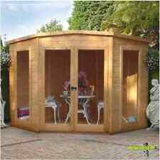 Corner Summerhouse Tongue & Groove Garden Patio Log Cabin Shed Building Home 7x7