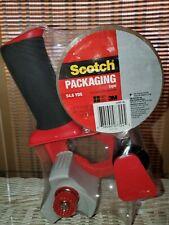New & Sealed! Scotch 3M Packaging Tape Gun Dispenser + 1 Roll of Heavy Duty Tape