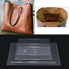 4pcs Clear Acrylic Leather Shoulder Bag Handbag Tote Purse Template Stencils