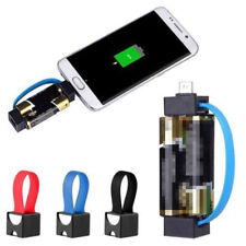 Mini Portable Magnetic AA/AAA Battery Powered Micro USB Emergency Phone Ch  Fm