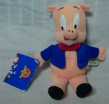 "Wb Looney Tunes Porky Pig 7"" Plush Stuffed Animal Toy New"