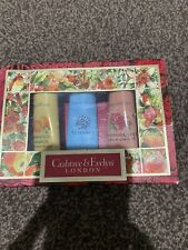 Crabtree & Evelyn Ultra Moisturising Hand Therapy Trio Creams In Decorative Box