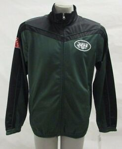 New York Jets Men's Full-Zip Embroidered Track Jacket NFL Green G-III