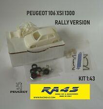 1/43 Peugeot 106 XSI 1300 Rally version Kit