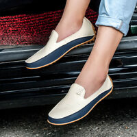 Men's Driving Leather Shoes Lazy Flats Peas Loafers Moccasins Breathable Casual