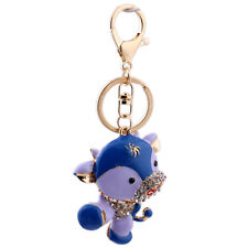 Handbag Buckle Charms Accossries Purple Cute Cow Keyrings Key Chains HK85