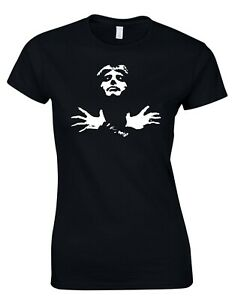 Freddie Mercury Queen Rock Music Womens T-Shirt