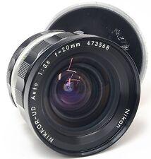 Nikon F 20mm 3.5 pre ai nikkor-ud