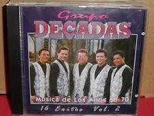 Grupo Decadas - Musica De Los Anos 60-70 CD Rare