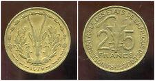 ETATS DE L'AFRIQUE DE L'OUEST  25 francs 1979  ( 1 )   ( bis )