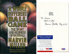 Marvin Miller Signed A Whole Different Ball Game Book PSA