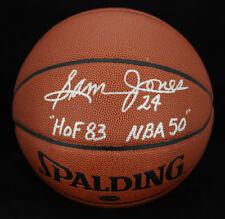 Sam Jones SIGNED I/O Basketball Boston Celtics HOF 83 NBA 50 PSA/DNA AUTOGRAPHED
