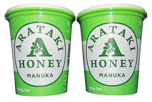 Arataki Genuine NZ Manuka Honey,  Twin pack, 2* 500gm tubs, free shipping