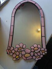 pink flower design mirror gift- girls room-hallway-decoration FREE P&P