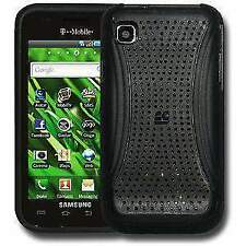 New Black Perforated Retro Sports Case Cover For Samsung Vibrant T959