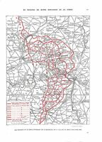 WWI Map Carte Bataille de la Somme Offensive 1916 British Army A ILLUSTRATION