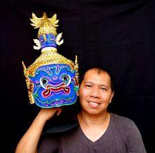 Mask Khon Blue Giant Thai Handmade Ramayana Home Art Decor Collectible Gift New