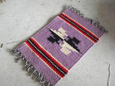 Unique Vintage Handmade Large Dollhouse Purple Rug Western Theme Look