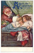 Antique Christmas Postcard Santa St. Nicholas Tuck's Oilette A/S Ada Bowley