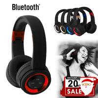 Sans fil Écouteurs Bluetooth Over Ear Casques Headset Pour iPhone Samsung
