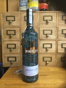 J J Whitley Empty Bramble Gin Light Bottle Fitted With Clear LEDs Powered By USB