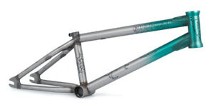 """SUBROSA YUNG ROSE 18"""" BMX BIKE FRAME AUTHORIZED DEALER TRANS TEAL FADE NEW"""