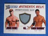 2008 TOPPS WWE HERITAGE IV Authentic Relic Mat Card ~ JOHN CENA & CODY RHODES ~