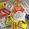 Lots 10/50Pcs Danger Warning Stickers Decal For Snowboard Luggage Car Laptop