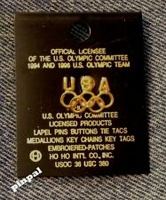 USA Olympic Pin~Gold Tone~undated~small tie tac size~5-Rings