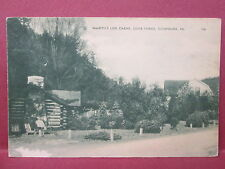Postcard PA Cooksburg Cook Forest MacBeth's Log Cabins #3
