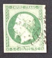 Timbre France, n°12a, 5c vert foncé, TB, Obl, Cote 225e.