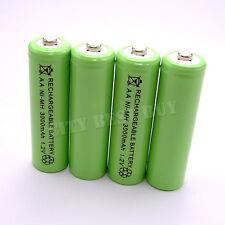 4 x AA 2A 3000mAh NiMH Rechargeable Battery Solar Light Green