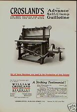 1914 PRINT - ADVANCE SELF CLAMP  GUILLOTINE .