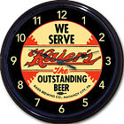 """Kaier Brewing Co Mahanoy PA Beer Coaster Wall Clock Kaier's Ale Lager Brew 10"""""""