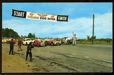 1958 Watkins Glen Grand Prix of America race start Postcard Esso Golden Extra