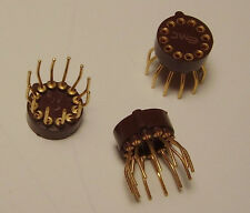 3 NOS All Gold Plated 12-pin Round IC Socket EMC Electronic Molding Company USA
