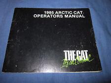 1985 ARTIC CAT JAG PANTHER PANTERA COUGAR EL TIGRE OWNERS MANUAL SNOW MOBILE
