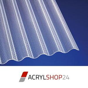 Acrylglas Lichtplatten Wellplatten Profilplatten 3mm Sinus 76 / 18 Wabe klar
