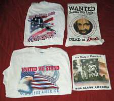 Orig 9/11 2001 WTC T-Shirt (Lot of 4) World Trade Center NYC (Size XL)