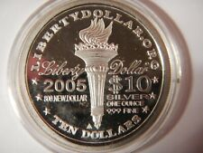 2005 one ounce silver $10  Norfed  round - rare. BU