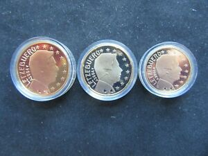 Lot 10 + 20 + 50 Cent Euro BE Luxembourg 2004
