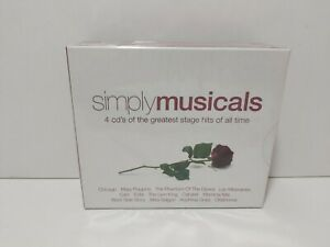 Simply Musicals Box Set 20044 CDs of the great stage hits of all time NEW
