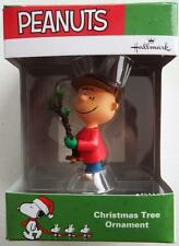 * Charlie Brown With Tree * Peanuts Charlie Brown  Ornament  Hallmark New In Box