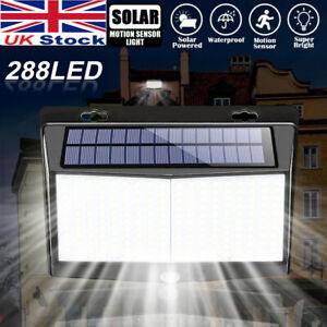 Solar Powered PIR Motion Sensor Wall Lights 288 LED Outdoor Garden Security Lamp