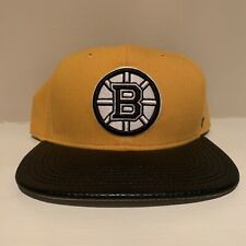 Boston Bruins Plain Logo Snapback Hat NHL Hockey '47 Brand Adjustable
