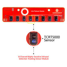 SunFounder IIC I2C Line Infrared IR Detection Tracking Sensor for Arduino