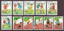 Nicaragua, Soccer, Cancelled to Order, hinged, 1989, 1990