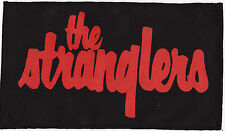 THE STRANGLERS 77 PUNK ROCK LARGE BLACK PATCH RED INK OVER LOCKED