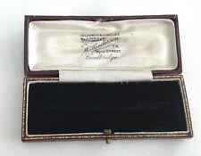 Vintage antique brooch Jewellery display box M Henderson Coatbridge