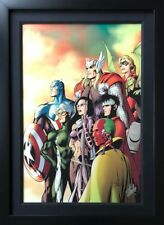 ALAN DAVIS rare AVENGERS C2E2 giclee CANVAS signed 2X STAN LEE #3/10 COA FRAMED Comic Art